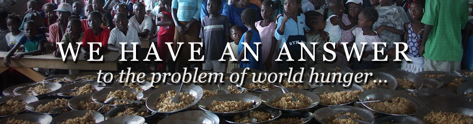 Kids Against Hunger provides an answer to the problem of world hunger...